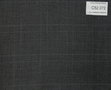 C52.072 Kevinlli Four Season Colletion - Vải 50% Wool - Xám Caro